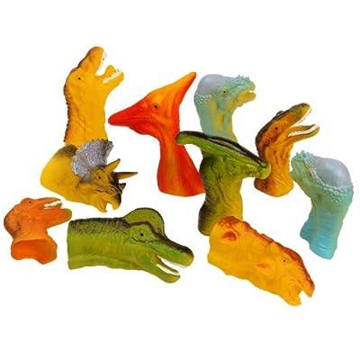 Dinosaur Finger Puppets (12 count) from Rhode Island Novelties