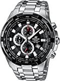 Branded Fashion Mens Watch - Watches for Mens Casio Edifice Wrist Watch - Stainless Steel - Chronograph - Tachometer - Waterproof - ideal Christmas Gift for Mens
