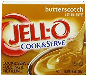 Jell-O Cook & Serve Pudding & Pie Filling, Butterscotch, 3.5-Ounce Boxes (Pack of 24)