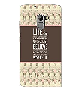 PrintDhaba Quote D-4776 Back Case Cover for LENOVO K4 NOTE A7010a48 (Multi-Coloured)