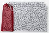 Blue Alcove All Over Snowflake 4 Piece Place Mat in a Gift Bag -  Red