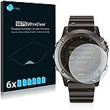 6x Savvies Displayschutzfolie - Garmin fenix 3 - Displayschutz Schutzfolie Folie ultra-transparent, unsichtbar
