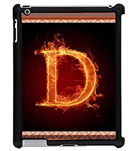 Printvisa 2D Printed Alphabet D Designer back case cover for Apple ipad 4 - D4192