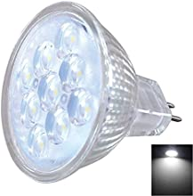 MR16 3W 9-LED SMD2835 220LM 6000-6500K Cool White LED Spotlight with Glass Lamp Cup DC12V