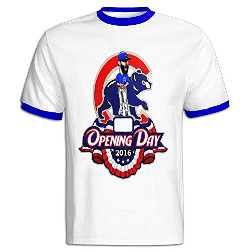 Youqian Chicago Cubs 2016 Logo Men's T-Shirt Small RoyalBlue Mens (Ernie The Elf)