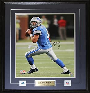 Matthew Stafford Detroit Lions Signed 16x20 Frame by Midway Memorabilia