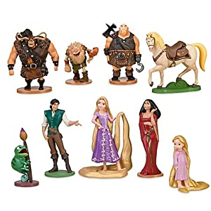 Deluxe Tangled Rapunzel Figurine Set -- 9-Pc.