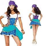 ジプシー踊り子コスチュームコスプレ衣装ハロウィンZF371