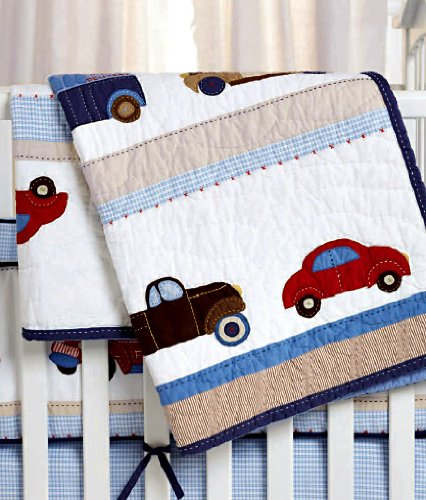 Whistle And Wink Nursery Quilt (Cars And Trucks) front-42917