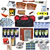 4 Person Survival Kit Deluxe Perfect Earthquake, Evacuation, Emergency Disaster Preparedness 72 Hour Kits for Home, Work or Auto: 4 Person