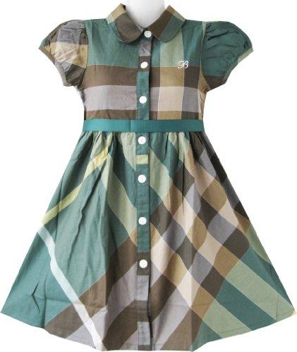 Платье Девушки Тартан Оливково-Зеленый…