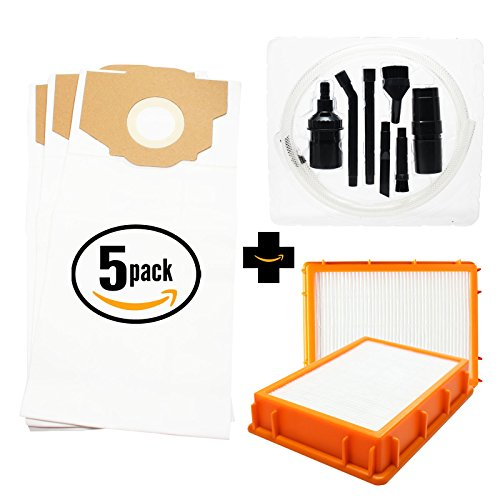 15 Replacement Eureka Style RR Vacuum Bags & 2 HF-2 HEPA Filter with 7-Piece Micro Vacuum Attachment Kit - Compatible Eureka Style RR Vacuum Bags & HF-2 Filter (15 Eureka Rr Bags compare prices)