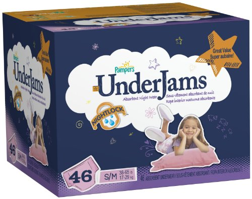Pampers UnderJams Girls, Big Pack, Small/Medium (Size 7), 46 ea,