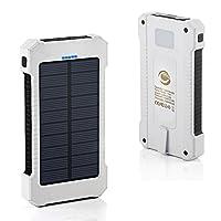 Grandbeing® 10000mAh Solar Power Bank f...