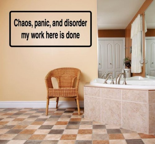 Decal Vinyl Wall Sticker Chaos Panic And Disorder My