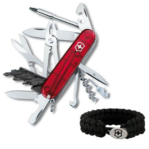 Victorinox Swiss Army Cybertool 34 Multitool Knife (Ruby) - 53919 + Victorinox Paracord Bracelet