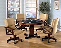 Hot Sale 3 In 1 Game Table Poker Pool 4 Tan Wheel Chairs