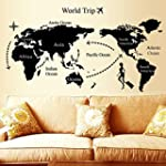 Soledi Removable World Travel Map Des...