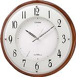 CITIZEN (シチズン) 掛け時計 電波時計 サイレントソーラーM795 木枠 ソーラー電源併用 4MY795-006
