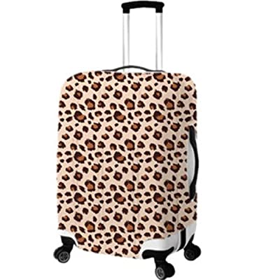 Wheeled Duffel Bag Luggage Suitcase Protector Cover L Leopard by Anjie
