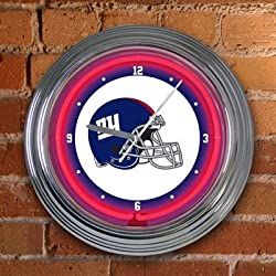 "New York Giants Team 14"" Neon Clock NFL Football Fan Shop Sports Team Merchandise"