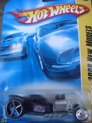 Hot Wheels Ratbomb Primer Purple, Chrome Block 'n Pipes Collector 1-64 2008