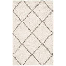 Safavieh Hudson Shag Collection SGH281A Ivory and Grey Runner, 2 feet 3 inches by 8 feet (2\'3\