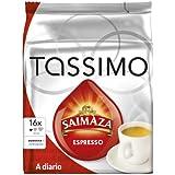 Tassimo Cápsulas de Café Saimaza Espresso, Espresso Intenso, Café Molido de Tueste Natural, 16 T-Discs