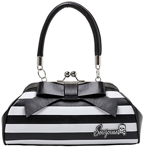 Sourpuss Floozy Purse Striped White/Black