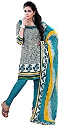 Swaman Women's Synthetic Dress Material(0729LAD00024,Multicolor)