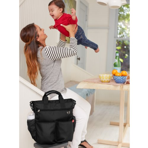 Skip Hop Duo Signature Diaper Bag, Black