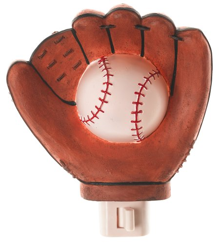 Baseball Glove Themed Nightlight Night Light Home Decor Boy Bedroom Sports Fan Children'S