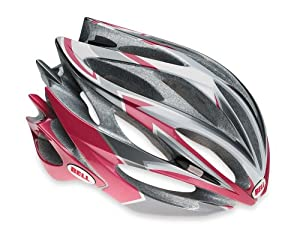 Bell Sweep R Racing Bike Helmet (Silver/Cranberry, Medium)