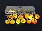 12 pcs EMOJI EMOTICON LED light up Keychain