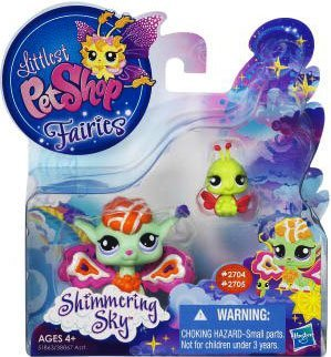 Littlest Pet Shop Enchanted Fairies Shimmering Sky 2Pack Sunscape Fairy Ladybug