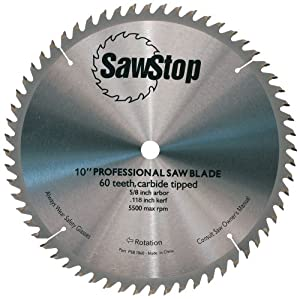 Sawstop cb104 184 60 tooth combination table saw blade 10 for 10 inch table saw blades