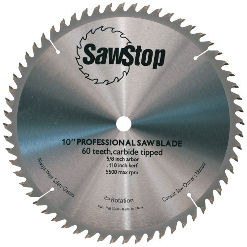 Sawstop cb104 184 60 tooth combination table saw blade 10 for 10 inch table saw blade reviews
