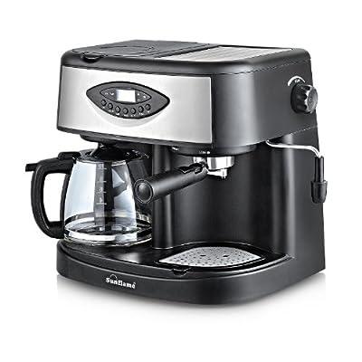 Sunflame SF-721  12-Cups 1850-Watt Espresso Machine (Black)