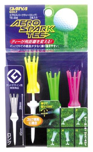 Daiya Aero Spark Tee Golf Long Size 3 ct
