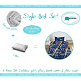 Matching Bedrooms Boys Single Transformers Flare Kids Bed Set Includes Quilt, Duvet Cover, Pillow, and Pillowcase.by Matching Bedroom Sets