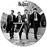 Vandor 53267 The Beatles 13.5 Cordless Wood Wall Clock, Black And White