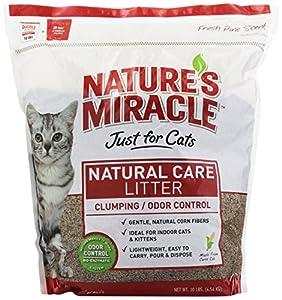 Nature's Miracle Odor Control Corn Cob Clumping Cat Litter, 10 lbs (5310)