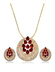 Eclat Gold Brass Pendant Set For Women New Fashion Jewelry (1112208GS)