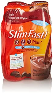 SlimFast Ready To Drink Shakes, Rich Chocolate Royale (4 Count, 10 Fl Oz Each)