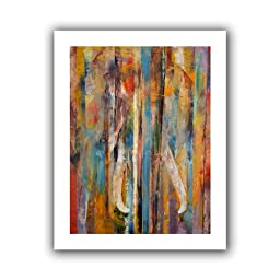 Art Wall Elephant Unwrapped Canvas Art by Michael Creese, 52 by 40-Inch