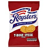 Roysters Bubbled Chips T-Bone Steak Flavour 28g (Pack of 28)