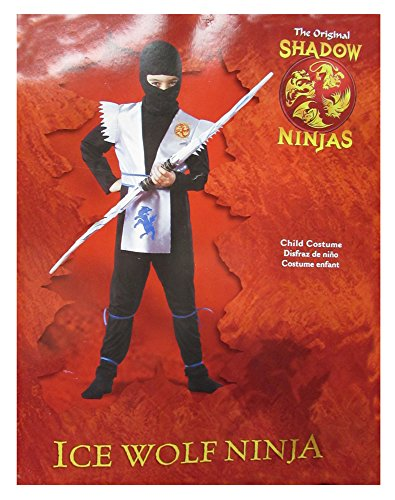 Disguise Boys 'Ice Wolf Ninja' Child Costume, Black/White, S
