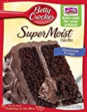 Betty Crocker Supermoist Cake Mix, Chocolate Fudge, 15.25-Ounce (Pack of 6)