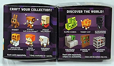 (Bundle of 6) Minecraft Collectible Figure Mystery Blind Box Obsidian Series 4 from Mattel