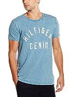 Hilfiger Denim Camiseta Manga Corta (Azul Claro)
